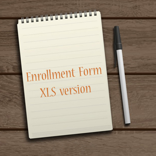 enrollment form xls version
