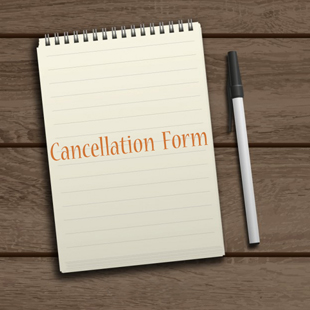 cancellation form